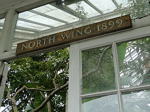 Temperate House sign North Wing 1899