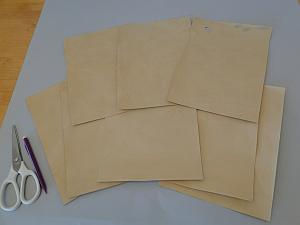 eight sheets of parchment