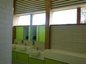 Green bathroom at Westonbirt