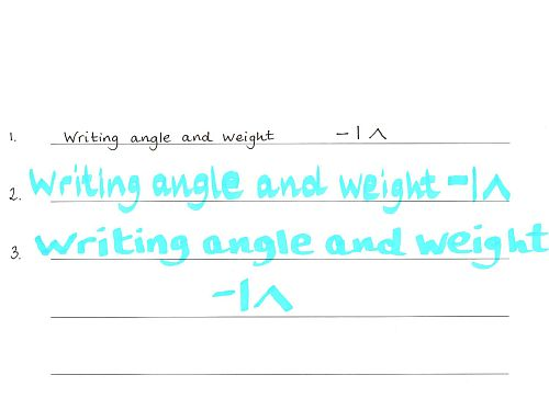 angle and weight