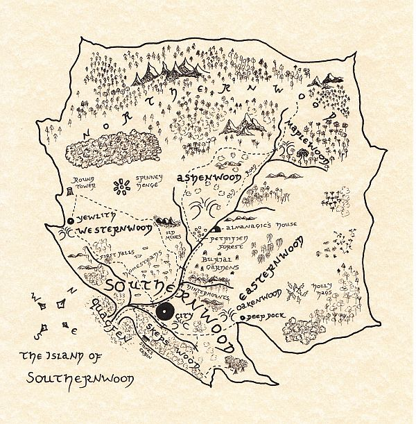map of the island of southernwood